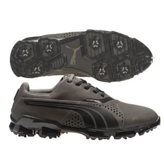 Puma Men's TitanTour Grey/ Black Golf Shoes|https://ak1.ostkcdn.com/images/products/13344594/P20046915.jpg?impolicy=medium