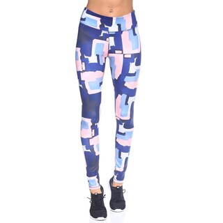 Women's Yoga Navy Blue Print Leggings