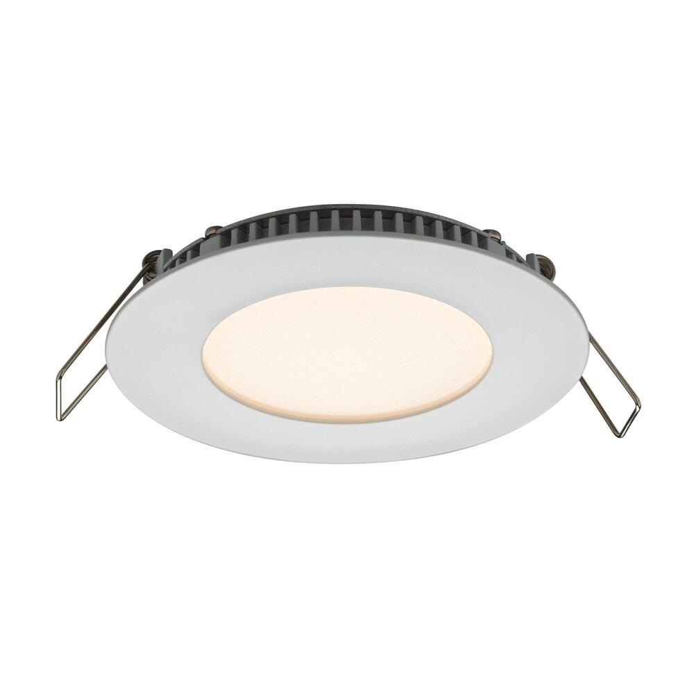 USA Dals White Aluminum 3-inch Round 6W LED Recessed Pane...