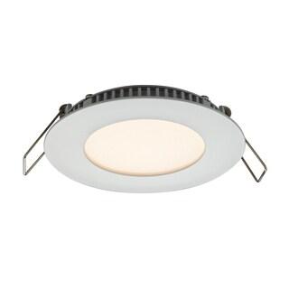 DALS White Aluminum 3-inch Round 6W LED Recessed Panel Ceiling Light