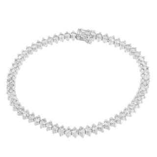 14K White Gold 5ct TDW Round Cut Diamond Tennis Bracelet (H-I, SI2-I1)