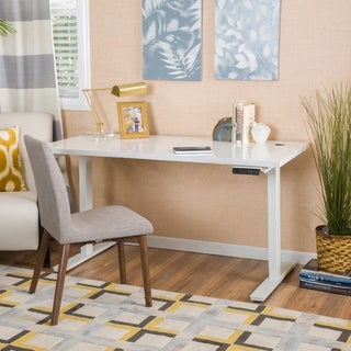 Christopher Knight Home Edison 48-inch Desk with Adjustable Height and Dual Powered Base