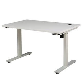 Christopher Knight Home Edison 48-inch Desk with Adjustable Height and Single Powered Base
