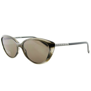 Dior Piccadilly XM0 Grey Horn Plastic Cat-Eye Grey Gradient Lens Sunglasses