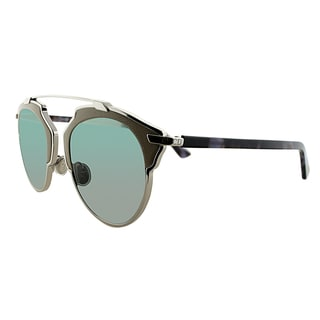 Dior Dior So Real Leather P7R ZJ Palladium Beige Mauve Havana Metal Aviator Gold Mirror Lens Sunglasses