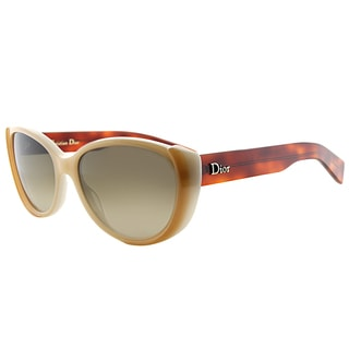 Dior Summerset 2 T6T Tan Havana Plastic Cat-Eye Brown Gradient Lens Sunglasses