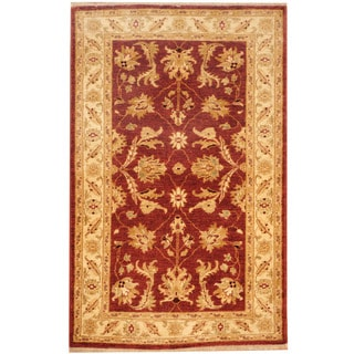 Herat Oriental Afghan Hand-knotted Tribal Oushak Wool Rug (3'1 x 5'1)
