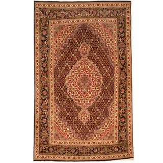 Herat Oriental Persian Hand-knotted Tabriz Wool Rug (3'4 x 5'3)