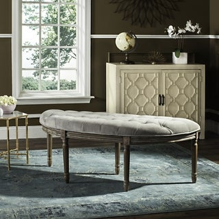 Safavieh Abilene Tufted Rustic Semi Circle Grey Bench