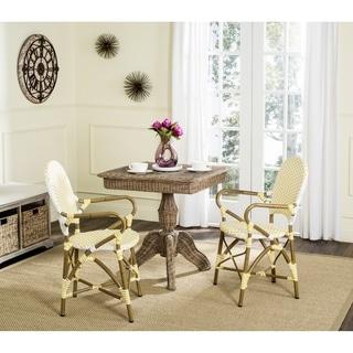 Safavieh Woven Hooper Indoor-Outdoor Yellow/ White Stacking Armchair