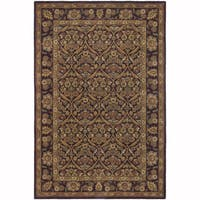 """Artist's Loom Hand-Tufted Traditional Floral Pattern Wool  Rug (7'9""""x10'6"""")"""