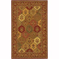 "Artist's Loom Hand-Tufted Traditional Floral Pattern Wool  Rug (7'9""x10'6"")"