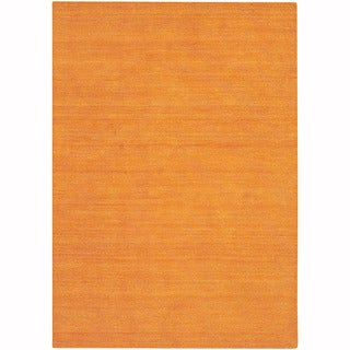 """Artist's Loom Hand-Tufted Contemporary Solid Pattern Wool  Rug (7'9""""x10'6"""")"""