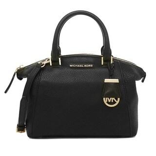 Michael Kors Riley Small Black Satchel Handbag