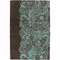"""Artist's Loom Hand-Tufted Contemporary Graphic Pattern New Zealand Wool Rug (7'9""""x10'6"""")"""
