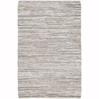 "Artist's Loom Flatweave Contemporary Solid Pattern Cotton/Jute Rug (7'9""x10'6"") - 7'9""x10'6"""