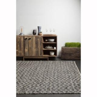 "Artist's Loom Flatweave Contemporary Solid Pattern Cotton/Jute Rug (7'9""x10'6"")"