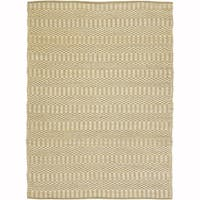 Artist's Loom Flatweave Contemporary Solid Pattern Cotton/Jute Rug