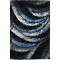 "Artist's Loom Hand-Woven Contemporary Geometric Pattern Shag Rug (7'9""x10'6"")"
