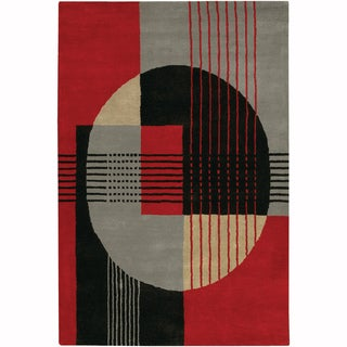 "Artist's Loom Hand-Tufted Contemporary Geometric Pattern New Zealand Wool Rug (7'9""x10'6"")"