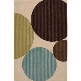 """Artist's Loom Hand-Tufted Contemporary Abstract Pattern New Zealand Wool Rug (7'9""""x10'6"""")"""