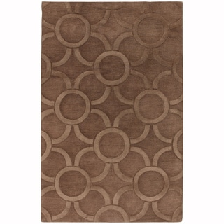 "Artist's Loom Hand-Tufted Contemporary Geometric Pattern Wool Rug (7'9""x10'6"")"