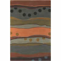 """Artist's Loom Hand-Tufted Contemporary Abstract Pattern Wool Rug (7'9""""x10'6"""")"""