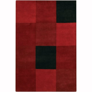 "Artist's Loom Hand-Tufted Casual Color Block Pattern Wool Rug (7'9""x10'6"")"
