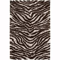 Artist's Loom Hand-Woven Contemporary Animal Pattern Shag Rug (9'x13')