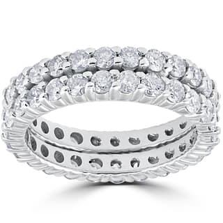 14k White Gold 3ct Diamond Eternity Double Row Womens Wedding Ring|https://ak1.ostkcdn.com/images/products/13348562/P20050324.jpg?impolicy=medium