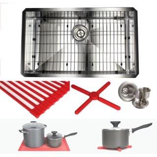 Ariel 30-inch Stainless Steel Zero Radius Single Bowl 16-gauge Undermount Kitchen Sink