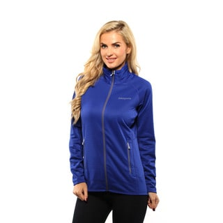 Patagonia Women's Harvest Moon Blue R1 Full Zip Jacket