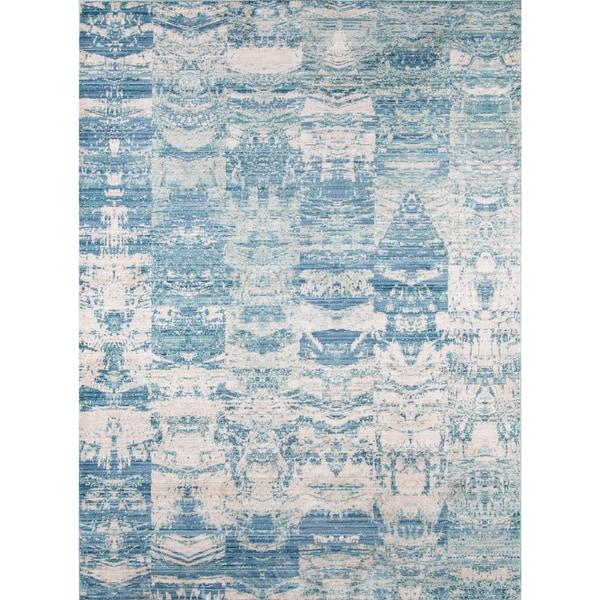 "Momeni Rustic Romance Blue Rug (8' X 10'2) - 8' x 10'2"""