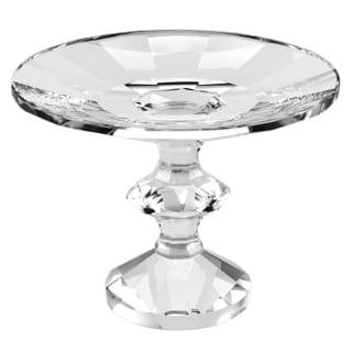 Badash Sundance Clear Glass 7-inch Diamater x 5-inch High Footed Platter