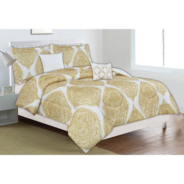 Home Dynamix Classic Trends Collection Golden Palace 5-piece Comforter Set