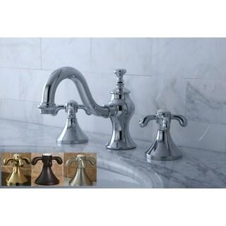 Victorian Teardrop Cross Widespread Bathroom Faucet