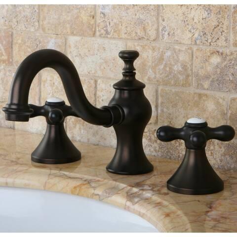 Victorian Cross Widespread Bathroom Faucet