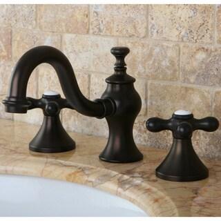 Victorian Cross Widespread Bathroom Faucet (Option: Brass Finish)