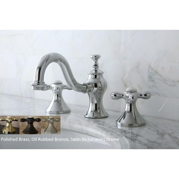 Shop Victorian Crystal Widespread Bathroom Faucet: Shop Victorian Cross Widespread Bathroom Faucet