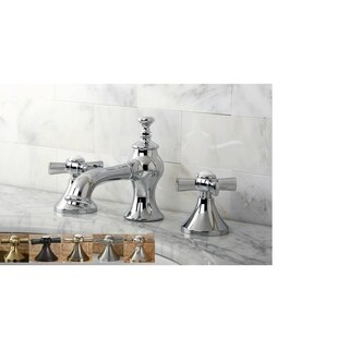 Vintage Moderno Cross Widespread Bathroom Faucet