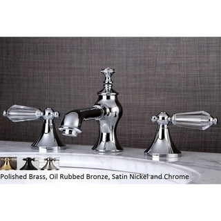 Crystal Widespread Bathroom Faucet