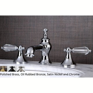 Crystal Widespread Bathroom Faucet