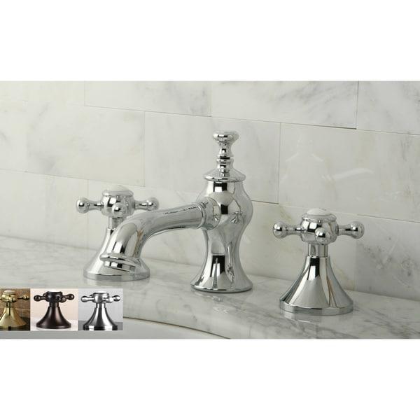 Vintage Cross Widespread Bathroom Faucet