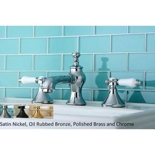 Vintage Porcelain Lever Widespread Bathroom Faucet
