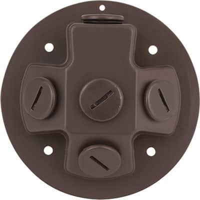 Progress Lighting P6343-20 Brown Aluminum Security Light Back Plate - N/A