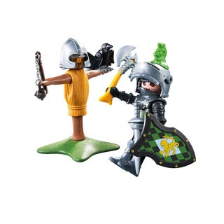Playmobil Unisex Lion Knight Figure With Training Dummy
