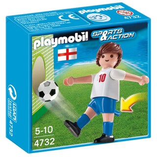 Playmobil England Soccer Player Toy Figure