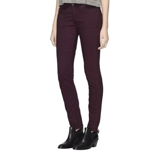 Rag 7 Bone Women's Wine-colored Cotton-blended Slim Jeans