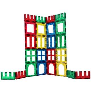 ShapeMags Multicolor Plastic 24-piece Window, Door, and Fence 3-D Magnetic Tiles Set