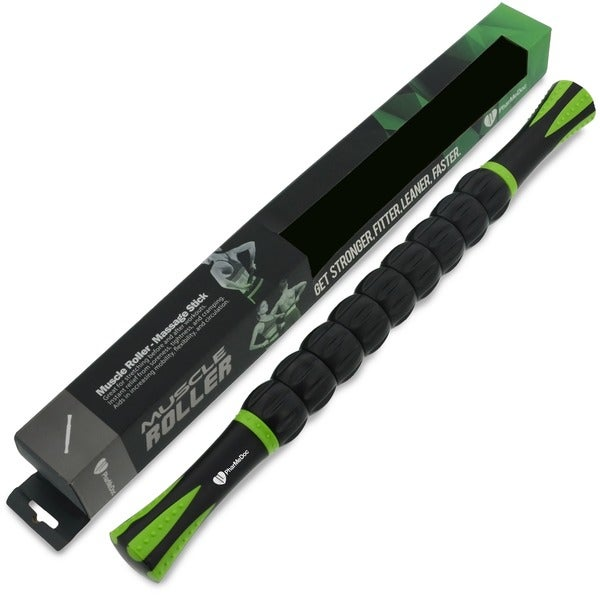 PharMeDoc Muscle Roller Massage Stick Self Myofascial Release Tool for Pressure Points, Sore Muscles, and Pain Relief